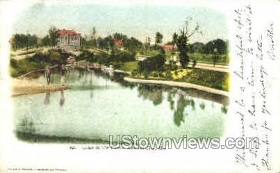 Lake in the Paseo - Kansas City, Missouri MO Postcard