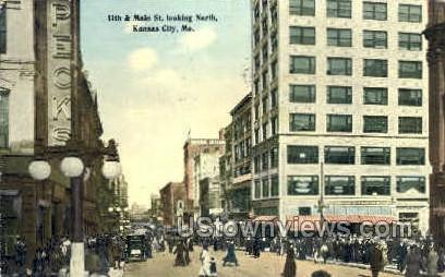 11th and Main St. - Kansas City, Missouri MO Postcard