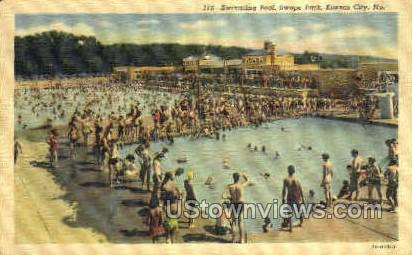 Swimming Pool - Kansas City, Missouri MO Postcard