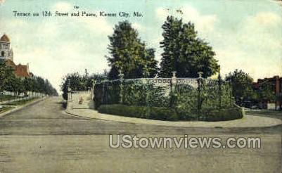 Terrace- 12th and Paseo - Kansas City, Missouri MO Postcard