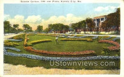 Sunken Garden - Kansas City, Missouri MO Postcard