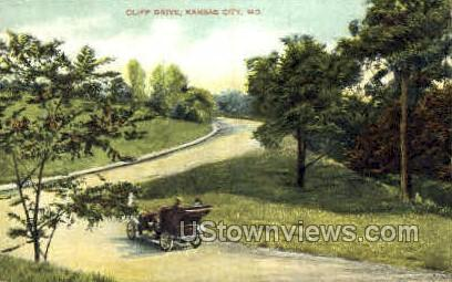 Cliff Dr. - Kansas City, Missouri MO Postcard