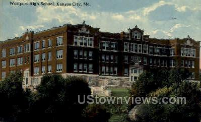Westport High School - Kansas City, Missouri MO Postcard