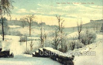 Penn Valley Park in Winter - Kansas City, Missouri MO Postcard