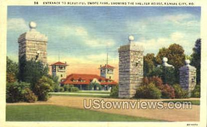 Entrance to Swope Park - Kansas City, Missouri MO Postcard