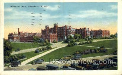 Hospital Hill - Kansas City, Missouri MO Postcard