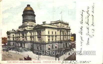Post Office and Federal Bldg - Kansas City, Missouri MO Postcard