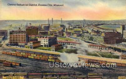 Central Industrial District - Kansas City, Missouri MO Postcard