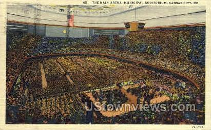 Main Arena, Municipal Auditorium - Kansas City, Missouri MO Postcard