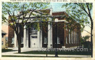 Fourth Church of Christ Scientist - Kansas City, Missouri MO Postcard