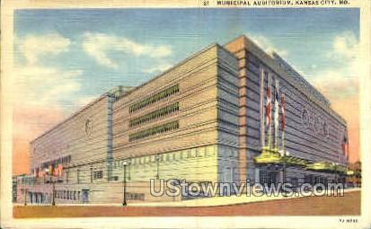 Municipal Auditorium - Kansas City, Missouri MO Postcard