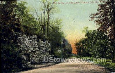 Spring on Cliff Dr. - Kansas City, Missouri MO Postcard