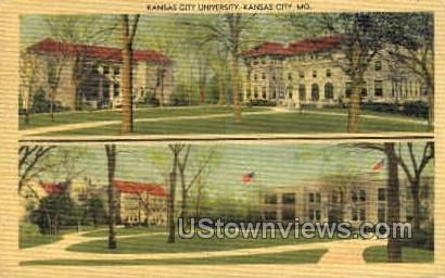 Kansas City University - Missouri MO Postcard
