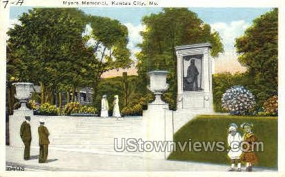 Myers Memorial - Kansas City, Missouri MO Postcard