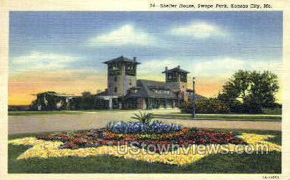 Shelter House - Kansas City, Missouri MO Postcard
