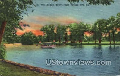 Lagoon of Swope Park - Kansas City, Missouri MO Postcard