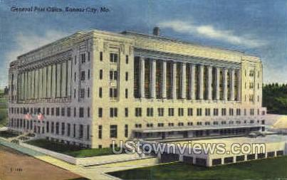 General Post Office - Kansas City, Missouri MO Postcard
