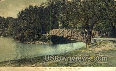 Rustic Bridge, Mt. Washington - Kansas City, Missouri MO Postcard