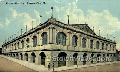 Convention Hall - Kansas City, Missouri MO Postcard