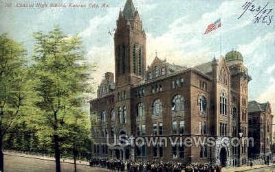 Central High School - Kansas City, Missouri MO Postcard