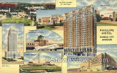 Phillips Hotel - Kansas City, Missouri MO Postcard
