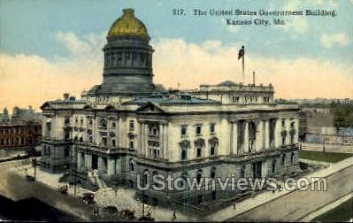 The United States Gov't Bldg - Kansas City, Missouri MO Postcard