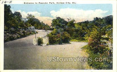 Entrance to Roanoke Park - Kansas City, Missouri MO Postcard