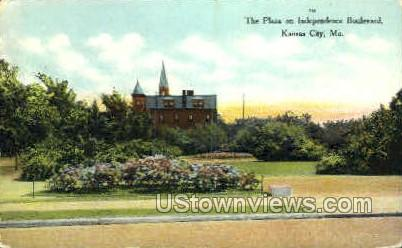 The Plaza, Independence Blvd. - Kansas City, Missouri MO Postcard