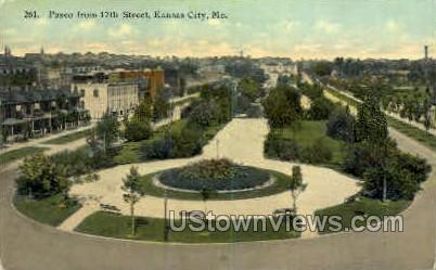 Paseo from 17th St. - Kansas City, Missouri MO Postcard