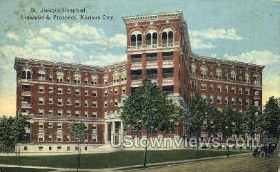 St. Joseph's Hospital - Kansas City, Missouri MO Postcard