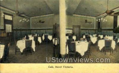 Caf», Hotel Victoria - Kansas City, Missouri MO Postcard
