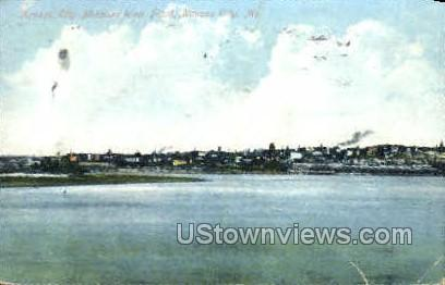 Missouri River Front - Kansas City Postcard