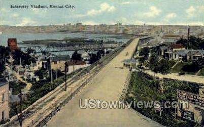 Intercity Viaduct - Kansas City, Missouri MO Postcard