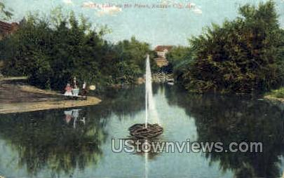 Lake on the Paseo - Kansas City, Missouri MO Postcard