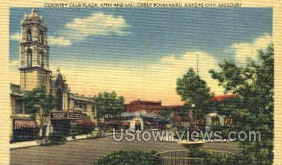 The Country Club Plaza - Kansas City, Missouri MO Postcard