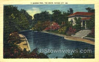 Wading Pool, The Grove - Kansas City, Missouri MO Postcard