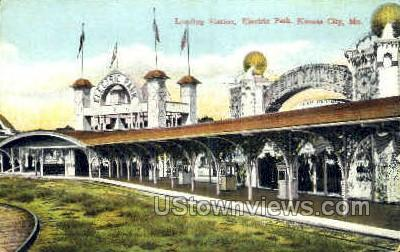 Loading Station, Electric Park - Kansas City, Missouri MO Postcard