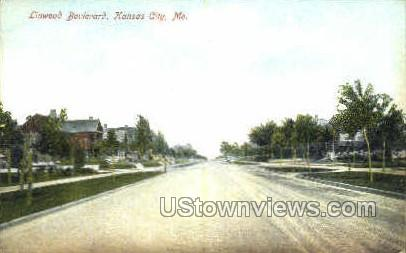 Linwood Boulevard - Kansas City, Missouri MO Postcard
