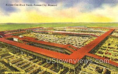 Kansas City Stock Yards - Missouri MO Postcard