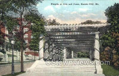Pergola at 11th and Paseo - Kansas City, Missouri MO Postcard