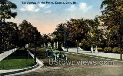 The Pergola on the Paseo - Kansas City, Missouri MO Postcard