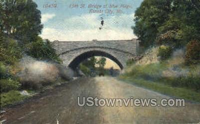 15th St. Bridge - Kansas City, Missouri MO Postcard