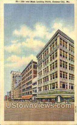 12th and Main - Kansas City, Missouri MO Postcard