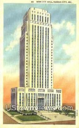 The New City Hall - Kansas City, Missouri MO Postcard