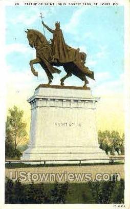 Statue of St. Louis, Forest Park - Missouri MO Postcard