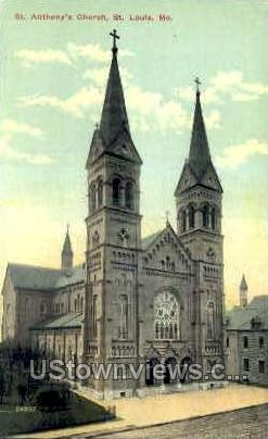 Anthony's Church - St. Louis, Missouri MO Postcard