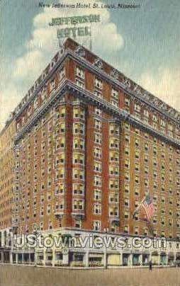 New Jefferson Hotel - St. Louis, Missouri MO Postcard