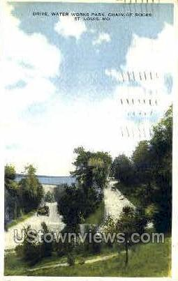 Drive of Water Works Park - St. Louis, Missouri MO Postcard