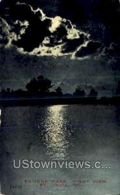 Night- Ramona Park - St. Louis, Missouri MO Postcard