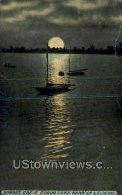 Sunset Creve Coeur Lake - St. Louis, Missouri MO Postcard